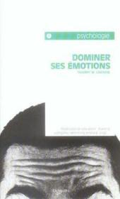 Dominer Ses Emotions - Couverture - Format classique