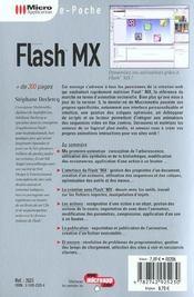 Flash 6 - 4ème de couverture - Format classique