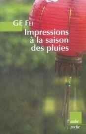 Impressions à la saison des pluies - Couverture - Format classique