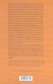 Le voyage de jean-baptiste des vosges a vienne - 4ème de couverture - Format classique