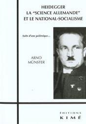 Heidegger,La Science Allemande Et Le National... - Intérieur - Format classique