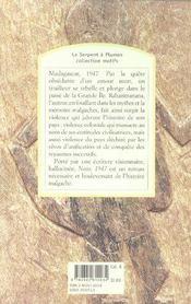 Nour, 1947 - 4ème de couverture - Format classique