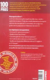 Reussir son cv (edition 2006-2007) - 4ème de couverture - Format classique