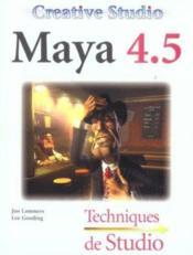 Creative Studio : Maya 4.5 - Couverture - Format classique