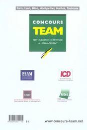 Concours Team 2005 - 4ème de couverture - Format classique