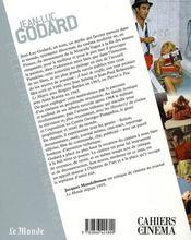 Jean-Luc Godard - 4ème de couverture - Format classique