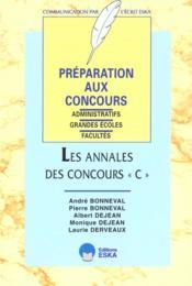 Les annales des concours c - Couverture - Format classique