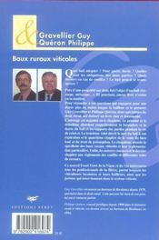 Baux Ruraux Viticoles - 4ème de couverture - Format classique