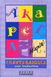 Akapela - chants basques - Couverture - Format classique