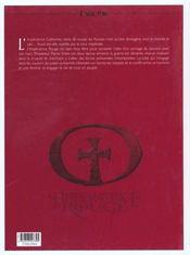 L'impératrice rouge t.1 ; le sang de Saint-Bothrace - 4ème de couverture - Format classique