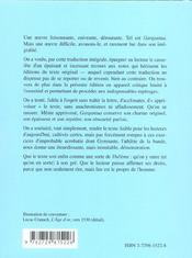 Rabelais Gargantua Traduction Integrale Et Inedite De Michel Tarpinian - 4ème de couverture - Format classique
