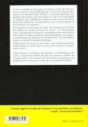Compact Physique Cours Et Exercices Corriges Mp-Mp* L'Integralite Du Programme 2e Annee - 4ème de couverture - Format classique