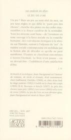 Le Jeu De L'Oie - 4ème de couverture - Format classique