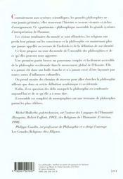 Philosophie De L'Humanite - 4ème de couverture - Format classique