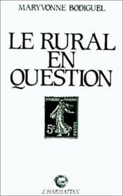 Le rural en question - Couverture - Format classique