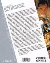 Martin Scorsese - 4ème de couverture - Format classique