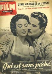 Film Complet N° 474 - Qui Est Sans Peche... - Couverture - Format classique