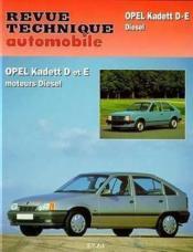 Rta 084.3 Opel Kadett Diesel D Et E (82/90) - Couverture - Format classique
