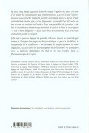 Le Mal Defigure Etude Sur La Pensee De Hegel - 4ème de couverture - Format classique