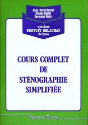Cours Complet De Stenographie Simplifiee ; Vert ; Manuel De L'Eleve - Intérieur - Format classique