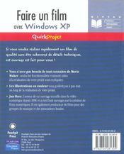 Faire un film windows xp - 4ème de couverture - Format classique