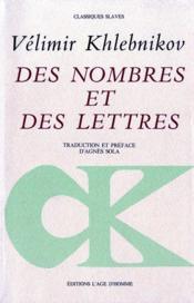 Des nombres et des lettres - Couverture - Format classique