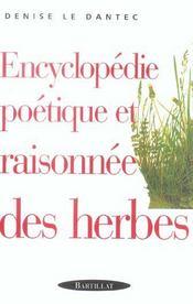 Encyclopédie poétique et raisonnée des herbes - Intérieur - Format classique