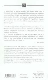 L'Ascenseur Social Est En Panne... J'Ai Pris L'Escalier - 4ème de couverture - Format classique