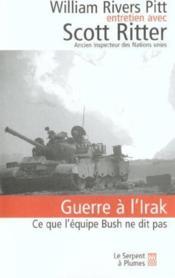 Guerre a l irak - Couverture - Format classique