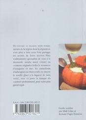 Repas et vins de fetes - 4ème de couverture - Format classique