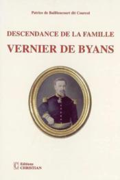 Descendance de la famille vernier de byans - Couverture - Format classique