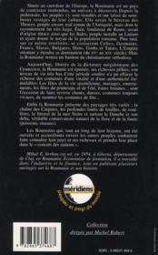 La Roumanie - 4ème de couverture - Format classique