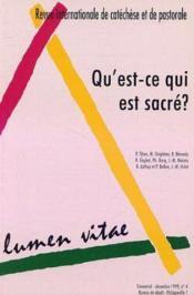 Qu Est Ce Qui Est Sacre 04 99 - Couverture - Format classique