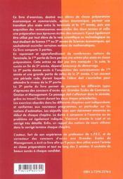 Exercices De Mathematiques De La Terminale A La Grande Ecole De Management Cpec Option Economique - 4ème de couverture - Format classique