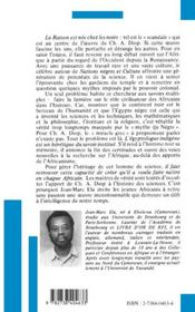 Cheikh Anta Diop ou l'honneur de penser - 4ème de couverture - Format classique