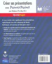 Creer ses presentations powerpoint - 4ème de couverture - Format classique