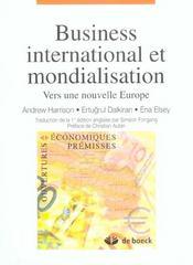 Business International Et Mondialisation Vers Une Nouvelle Europe - Intérieur - Format classique