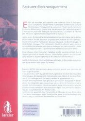 DROIT DES TECHNOLOGIES ; facturer électroniquement ; droits européen, français et belge - 4ème de couverture - Format classique