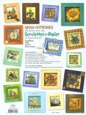Mini Vitrines Decorees Avec Des Serviettes En Papier - 4ème de couverture - Format classique