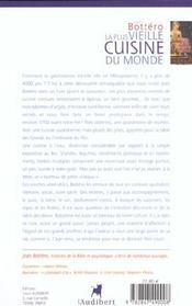 Plus Vieille Cuisine Du Monde (La) - 4ème de couverture - Format classique