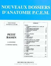 Nouveaux Dossiers D'Anatomie ; Petit Bassin - Intérieur - Format classique