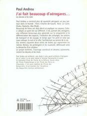 J'Ai Fait Beaucoup D'Aerogares - 4ème de couverture - Format classique