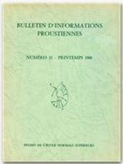 Bulletin D'Informations Proustiennes T.25 - Couverture - Format classique