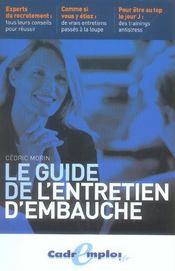 Le guide de l'entretien d'embauche - Intérieur - Format classique