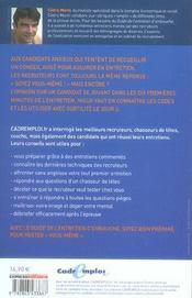Le guide de l'entretien d'embauche - 4ème de couverture - Format classique