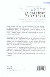 La Quete Du Roi Arthur T.2 ; La Sorciere De La Foret - 4ème de couverture - Format classique