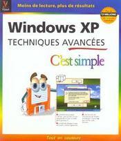 Windows Xp Techniques Avancees - Intérieur - Format classique