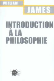 Introduction à la philosophie - Intérieur - Format classique