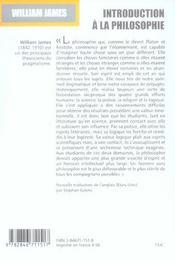 Introduction à la philosophie - 4ème de couverture - Format classique