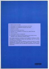 Tennis de table ; technique, tactique et didactique - 4ème de couverture - Format classique
